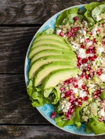 Salades gourmandes aux céréales