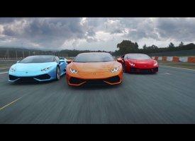 La Lamborghini Huracan fait le show