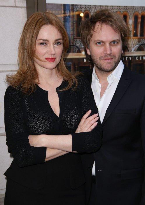 Marine Delterme et Florian Zeller, en marge de le représentation de la pièce Le Père, à New York, le 14 avril 2016.