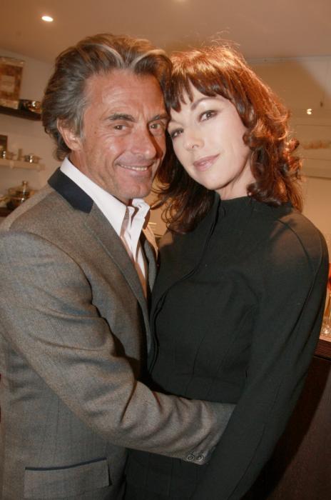 Gérard Holtz et Julie Arnold, lors du dîner annuel de l\