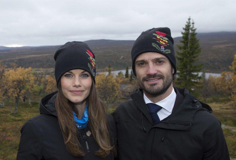 Carl Philip et Sofia de Suède au villlage de Idre en Suède, en octobre 2015.