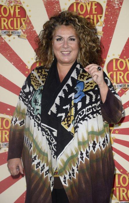 Marianne James lors de la générale de la comédie musicale Love Circus au théâtre des Folies Bergère à Paris, le 28 octobre 2014.