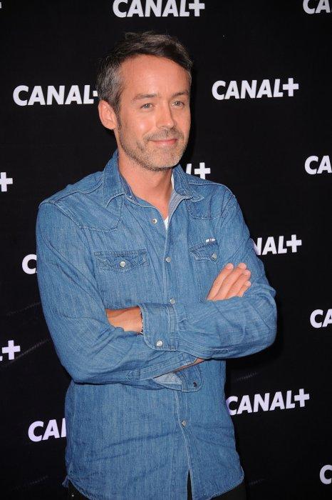 Yann Barthès lors de la soirée de rentrée Canal + organisée à Paris, le 28 août 2013.