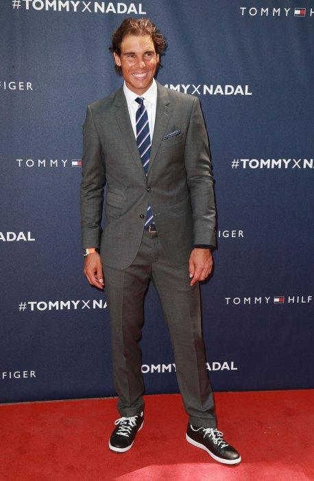 Rafael Nadal lors du lancement de la collection Tommy x Nadal à New York, le 25 août 2015.