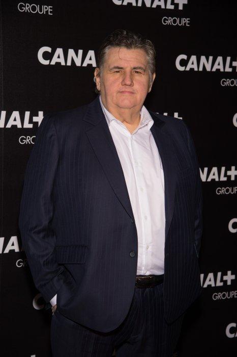 Pierre Ménès assiste à la soirée des animateurs du Groupe Canal+ au Manko à Paris, le 3 février 2016.