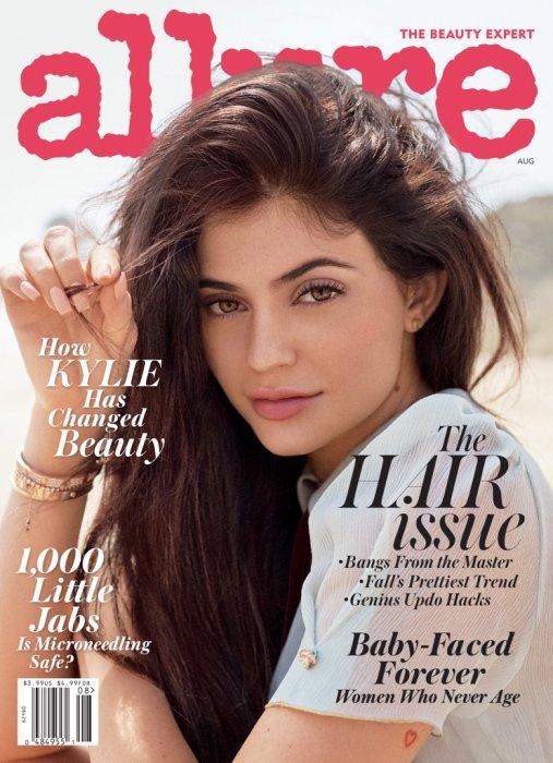 Kylie Jenner en couverture du magazine Allure, sur le numéro daté d\