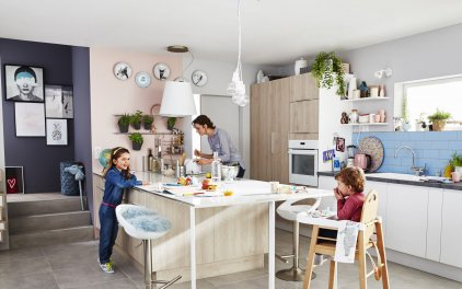 Cuisine Familiale : Comment Bien L'Aménager ? Sur Orange Tendances