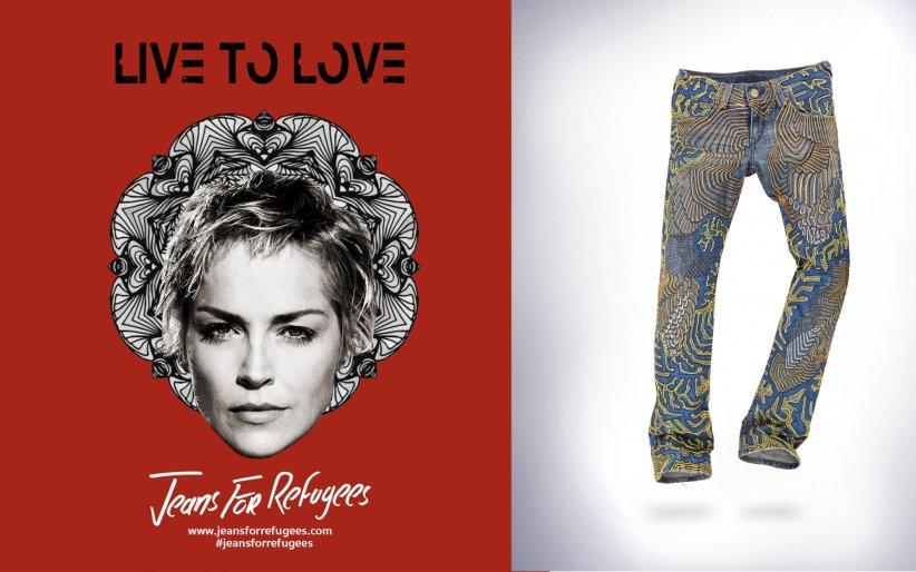 Sharon Stone vend son jean customisé par l\