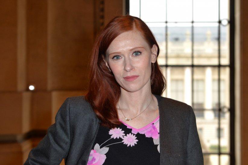 Audrey Fleurot assiste au défilé de mode Léonard, le 7 mars 2016.