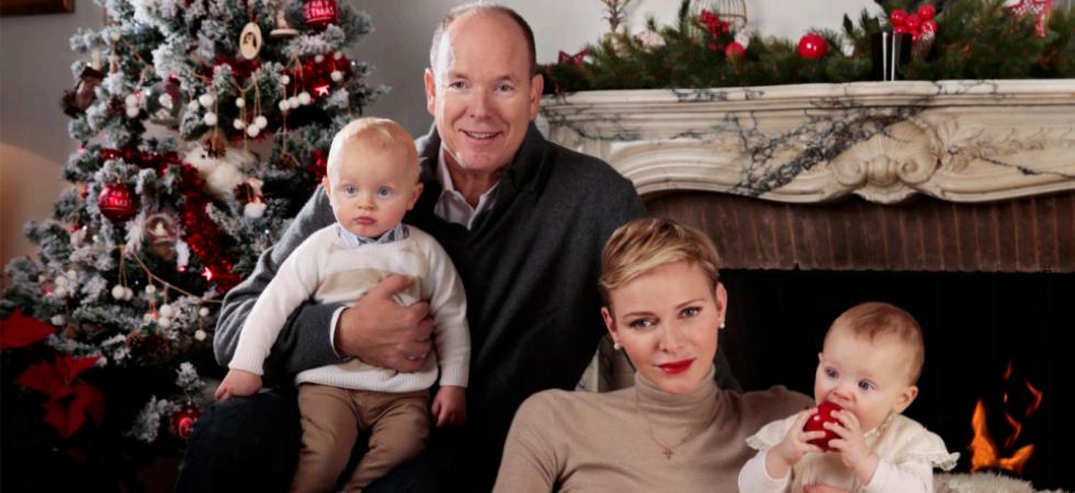 Le prince Albert et Charlène dévoilent une adorable photo de famille pour Noël