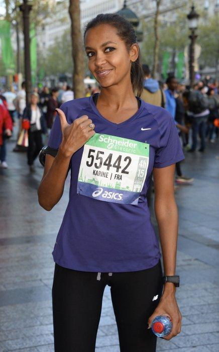 """Karine Le Marchand a fait son premier marathon """"les doigts dans le nez"""""""