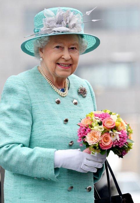 Elizabeth II lors de la 5e assemblée nationale du Pays de Galles à Cardiff, le 7 juin 2016.