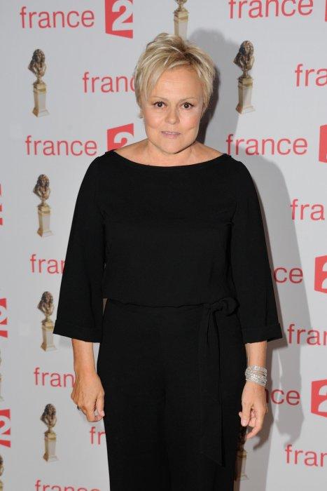 Muriel Robin lors de la 28e cérémonie des Molières à Paris, le 23 mai 2016.