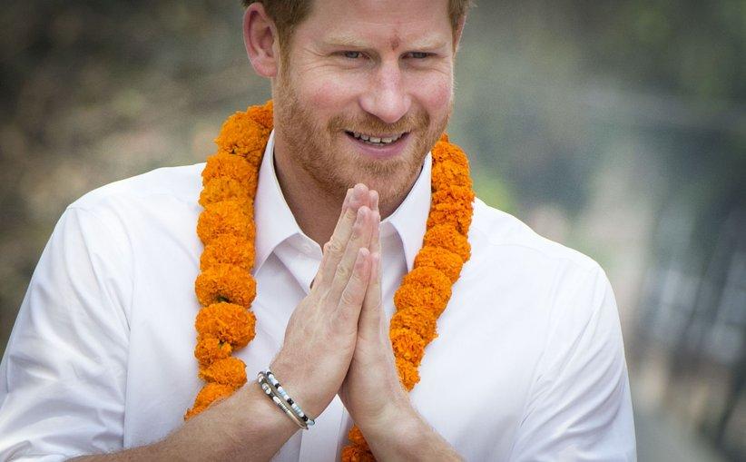 Le prince Harry, en visite à l\