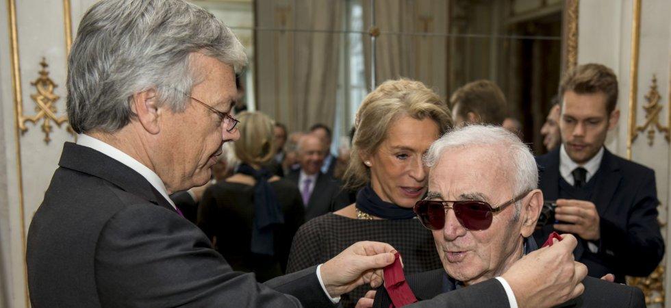 Charles Aznavour fait commandeur par le roi des Belges