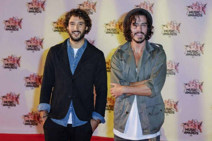 Le duo Fréro Delavega aux NRJ Music Awards, à Cannes, en novembre 2015.