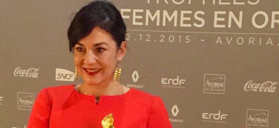 Orange remet le trophée de la Femme en Or Digitale à Delphine Rémy-Boutang