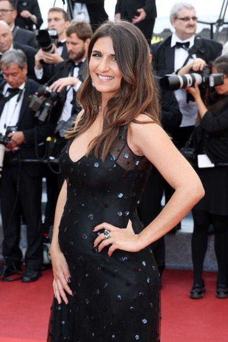 Géraldine Nakache, enceinte, lors du 69ème Festival de Cannes, le 11 mai 2016.