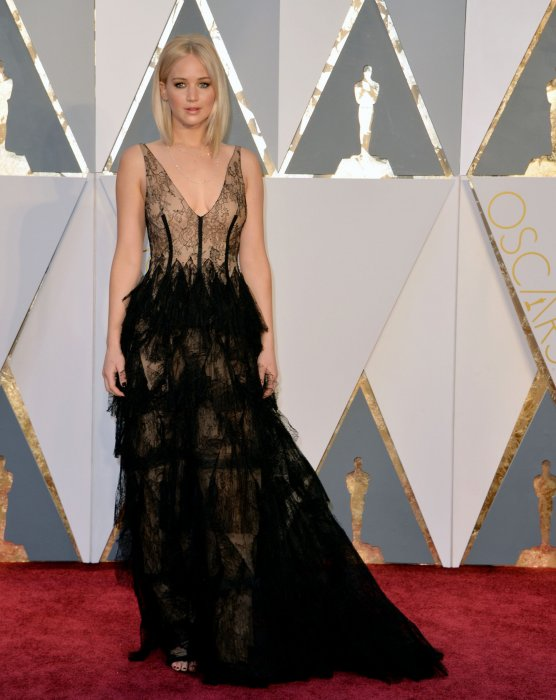 Jennifer Lawrence en robe Dior