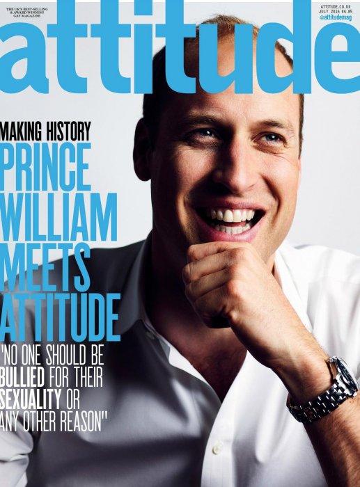 Le prince William, en couverture du magazine britannique Attitude, à paraître le 22 juin 2016.