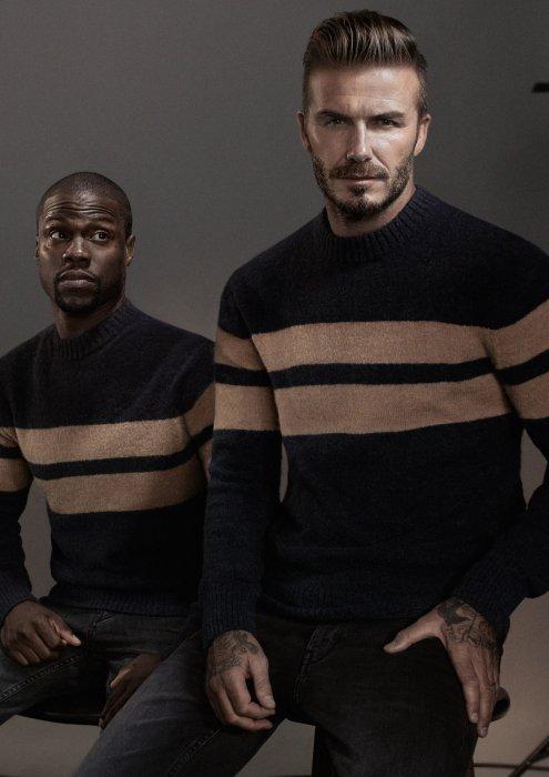 David Beckham et Kevin Hart posent pour H&M