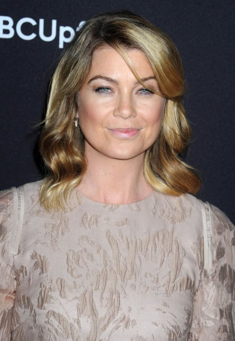 Ellen Pompeo sur le photocall de la soirée ABC au Lincoln Center à New York, le 12 mai 2015.
