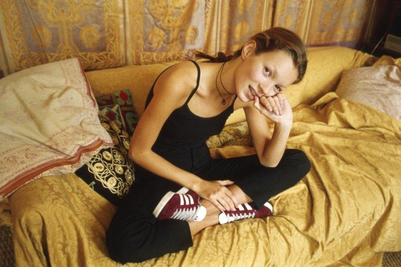 Kate Moss portant des Gazelle d\