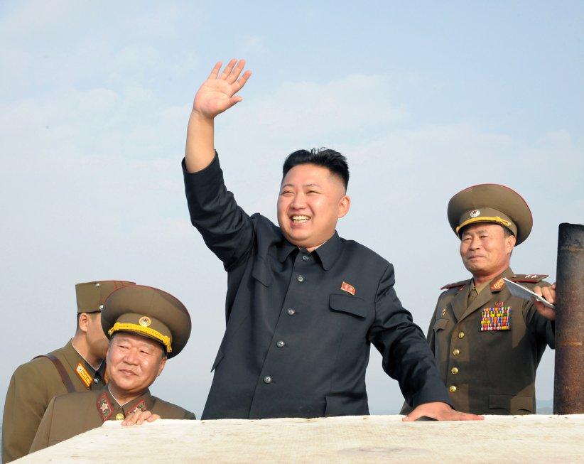 Kim Jong-un, passe en revue ses forces armées, le 19 août 2012.