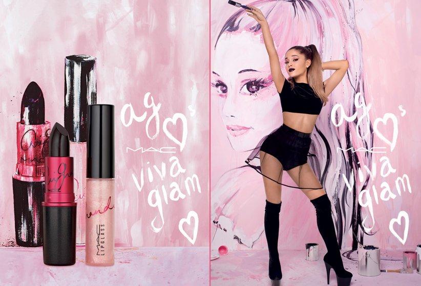 La gamme Viva Glam de MAC et son égérie Ariana Grande.
