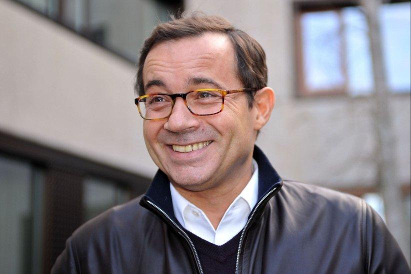 Jean-Luc Delarue, en marge de sa tournée préventive contre la drogue, en Suisse, en mars 2011.