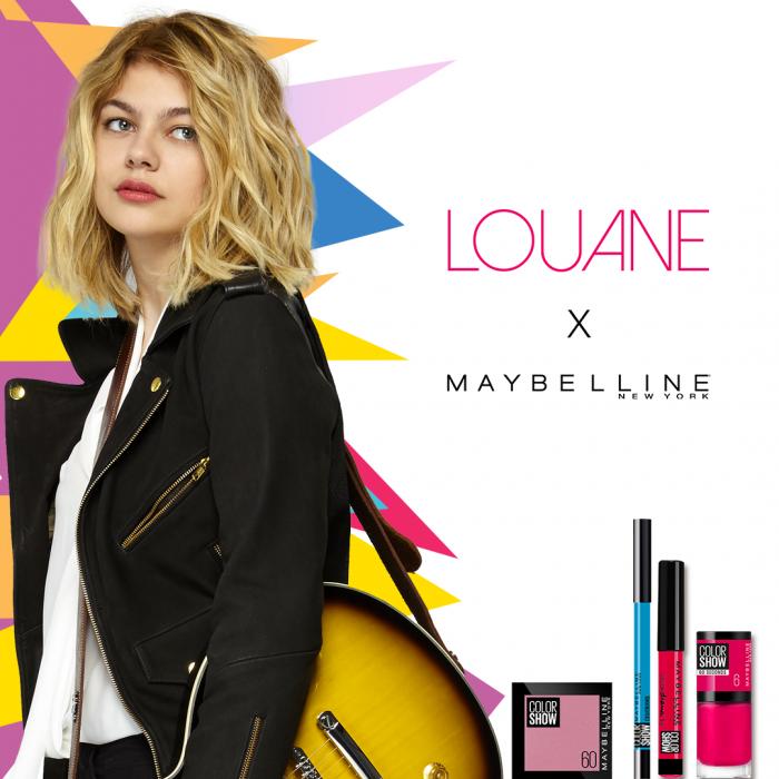 Louane, nouvelle égérie Maybelline.
