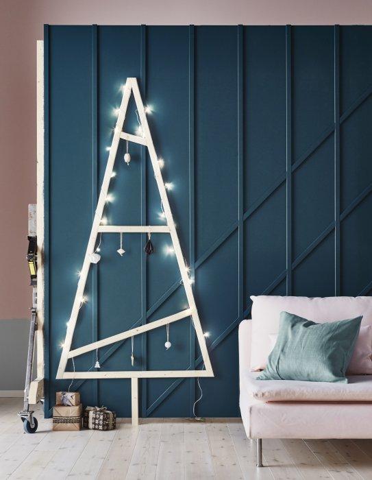 Un arbre de Noël minimaliste sans fioriture
