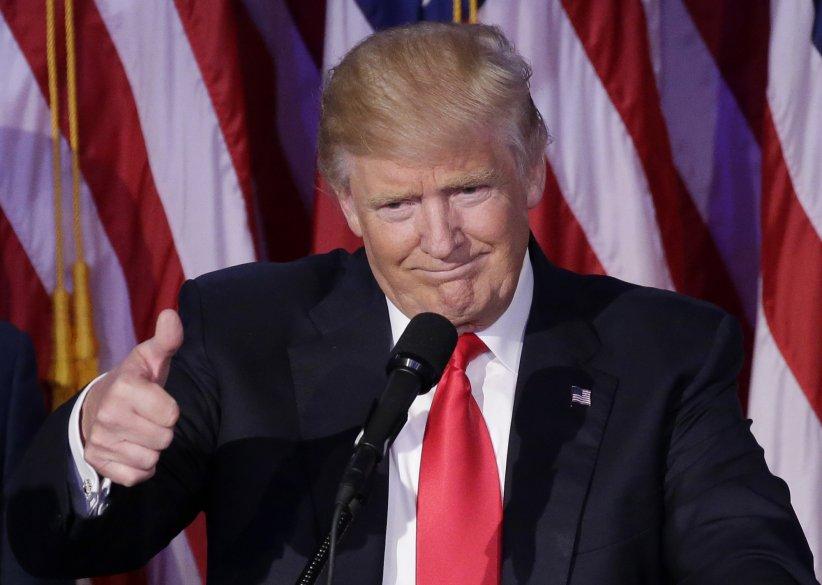 Donald Trump après avoir remporté les élections présidentielles à New York, le 8 novembre 2016.