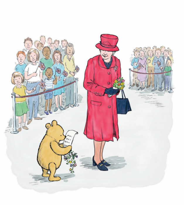 Extrait du livre Winnie-The-Pooh And The Royal Birthday, diffusé en libre accès sur le site de Disney.