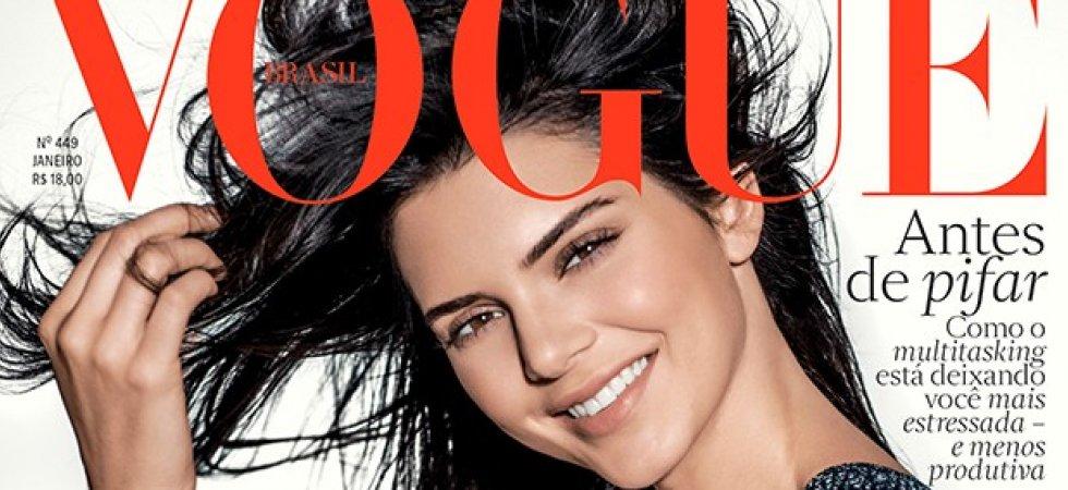 Kendall Jenner : beauté naturelle en Une de Vogue Brésil