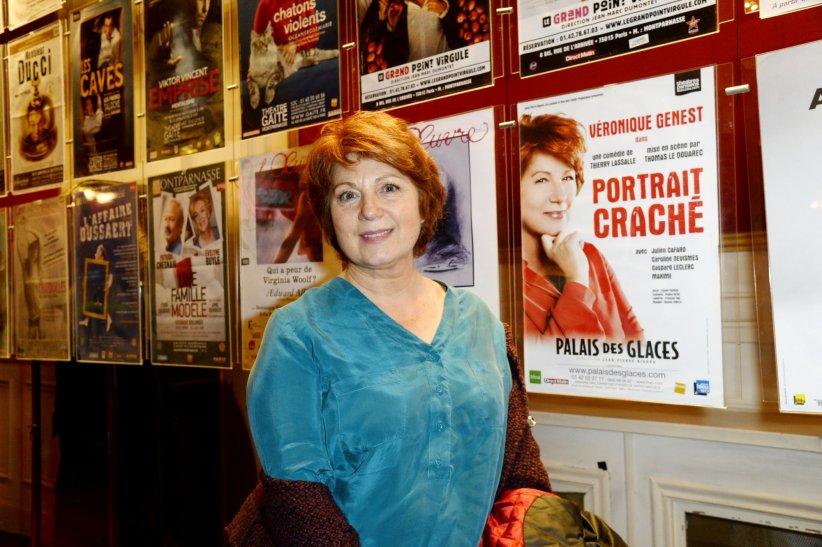 Véronique Genest au Théatre de Paris en janvier 2016.
