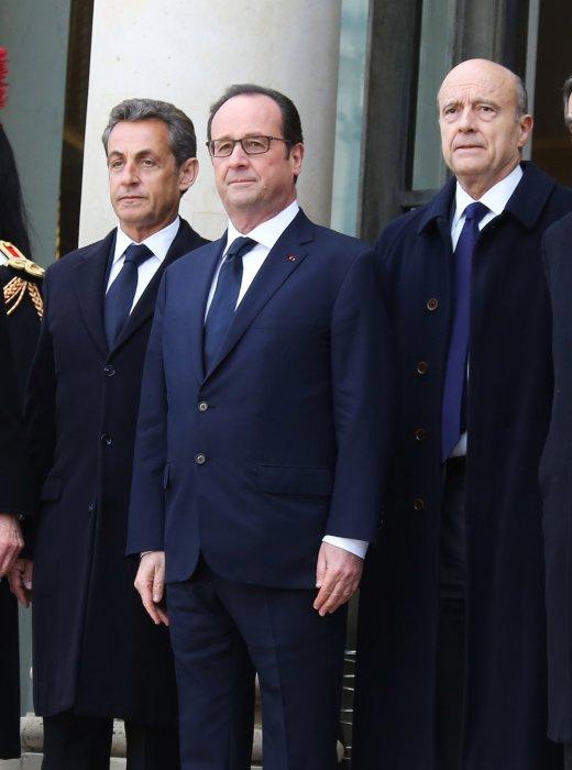 Nicolas Sarkozy, François Hollande et Alain Juppé à l\