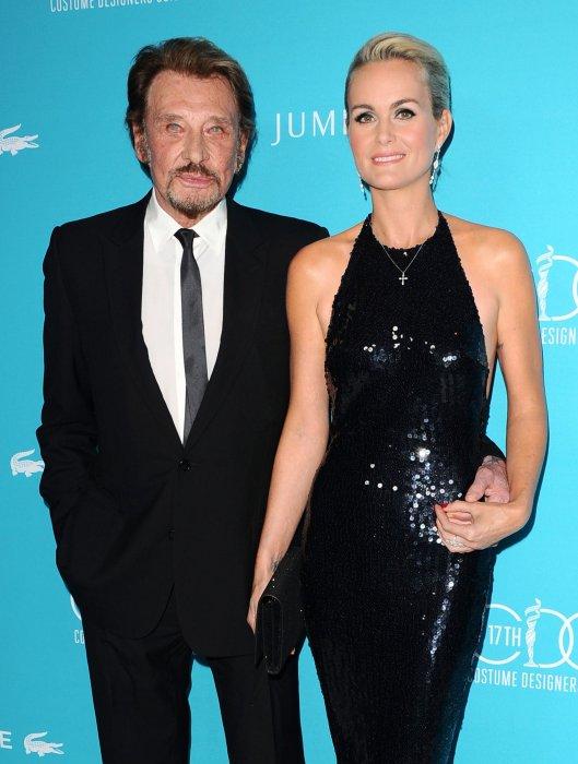 Johnny et Laeticia Hallyday assistent aux 17e Costume Designers Guild Awards à Los Angeles, le 17 février 2015.