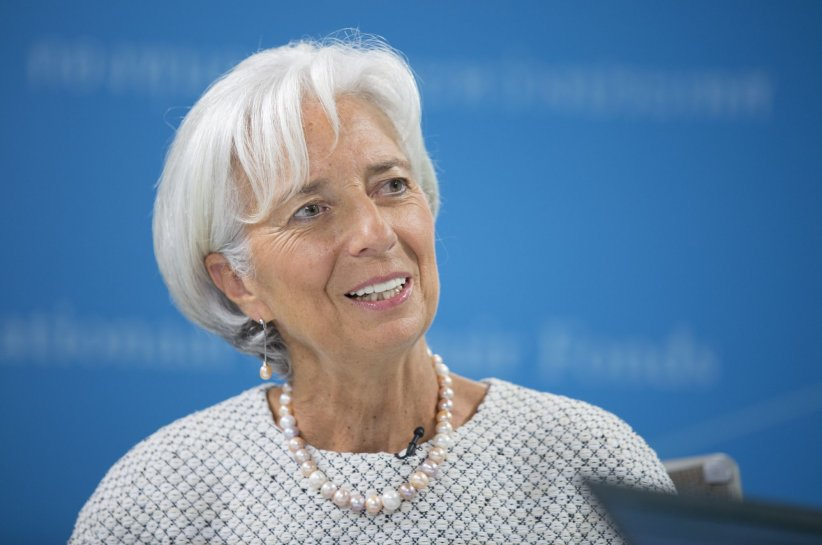 Christine Lagarde répond à des questions lors d\