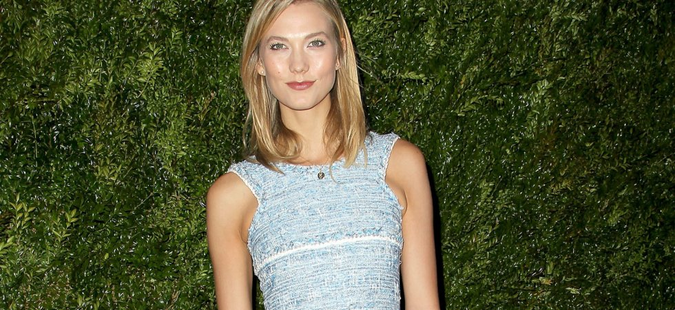 Karlie Kloss, pétillante en robe Chanel