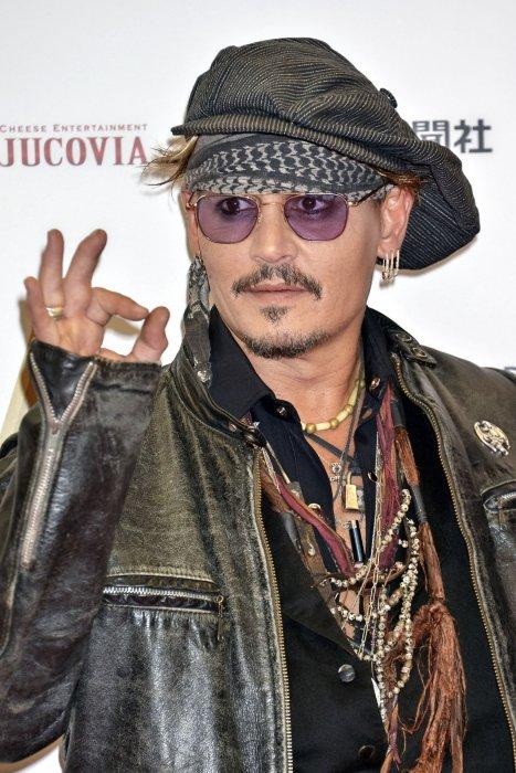 Johnny Depp lors des Classic Rock Awards 2016 au Ryogoku Kokugikan à Tokyo, le 11 novembre 2016.