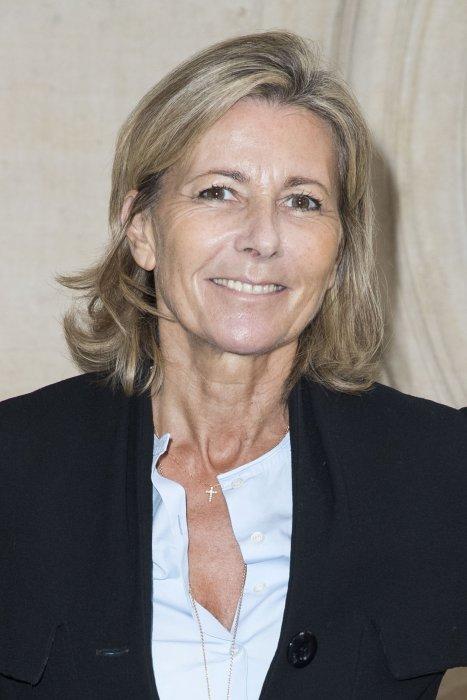 """Claire Chazal lors du défilé de mode """"Christian Dior"""", collection prêt-à-porter Printemps-Eté 2017 à Paris, le 30 septembre 2016."""