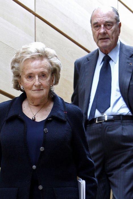 Jacques et Bernadette Chirac lors de l\