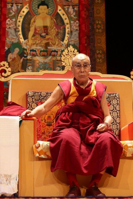 Le dalaï-lama lors d\