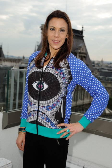 Marion Bartoli lors de la présentation de la collection Love Fila by Marion Bartoli à Paris, le 17 mai 2016.