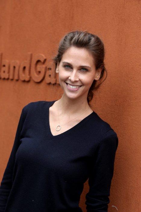 Ophélie Meunier pose au Village de Roland Garros à Paris, le 5 juin 2016.