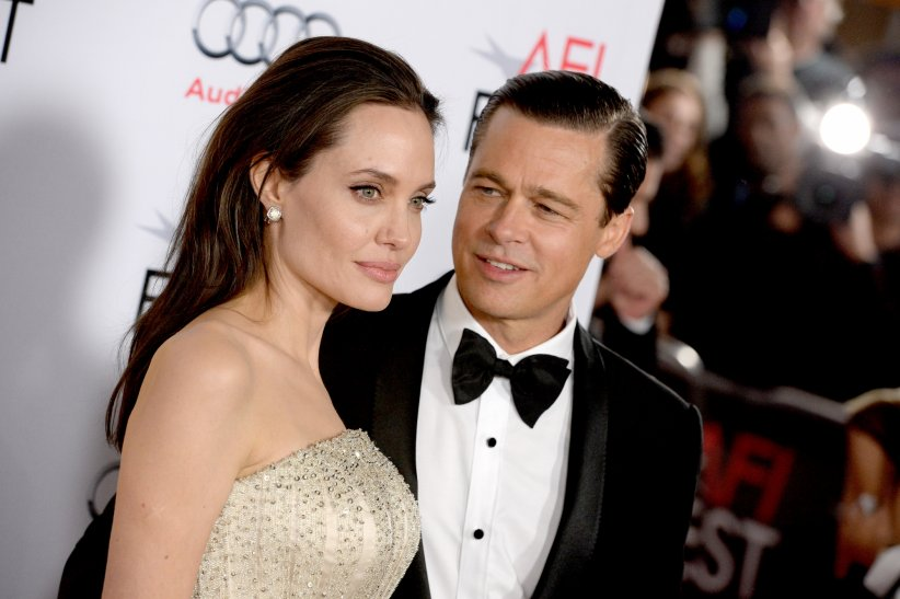 "Angelina Jolie et Brad Pitt assistent au gala de la première du film ""By The Sea"" le 15 novembre 2015 à Los Angeles."