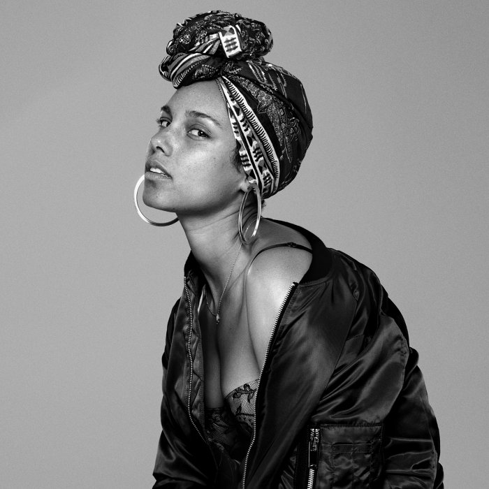 Alicia Keys adhère au no make-up sur la pochette de son prochain album.