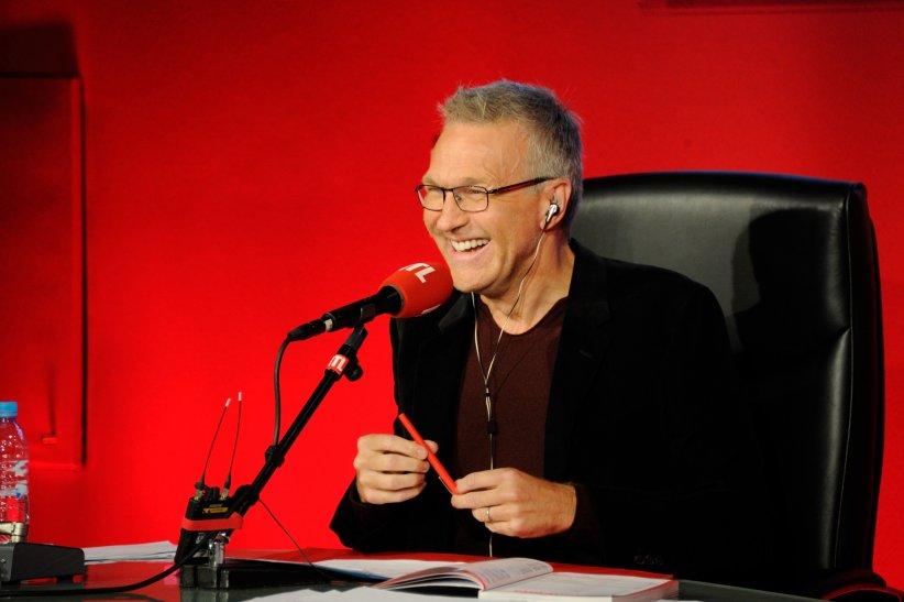 Laurent Ruquier pendant la conférence de presse annuelle de RTL, à Paris, le 4 septembre 2014.