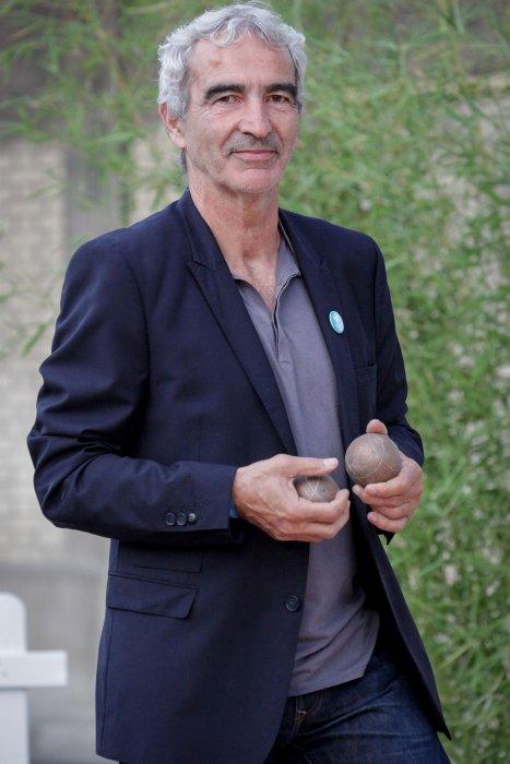 Raymond Domenech participe au 2nd Trophée de la Pétanque Gastronomique au Paris Yacht Marina, le 27 Juin 2014.